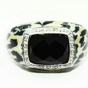 Jewelry - 4.62tcwBlack Onyx / real Diamonds 925STERLING ring